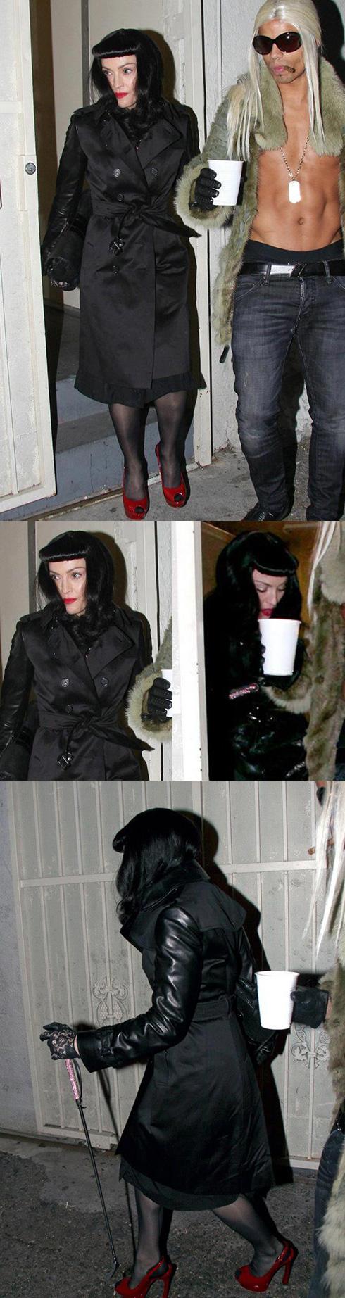 Мадонна на вечеринке в честь праздника Пурим