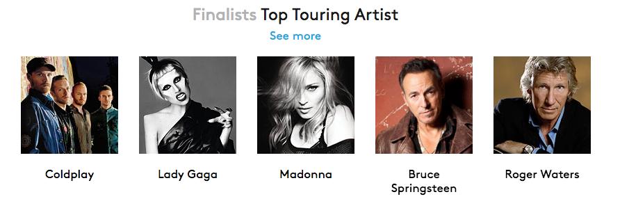 Мадонна номинирована на 3 награды Billboard